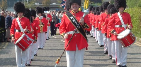 Melton Mobray Toy Soldiers Band join the procession!
